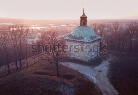 Sun rising in Pinczow Stock photo © benkrut