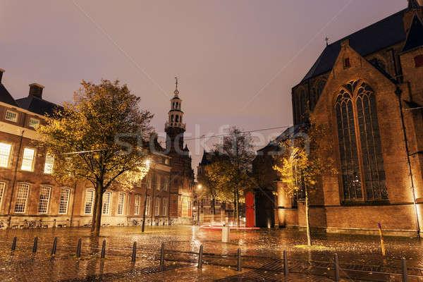 雨の 午前 古い 市 ホール 南 ストックフォト © benkrut