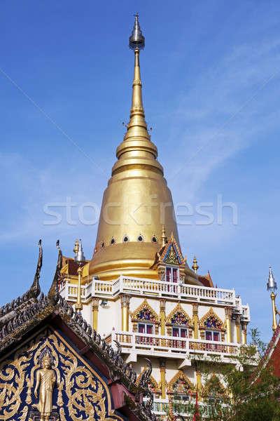 Correia Bangkok centro Tailândia cidade igreja Foto stock © benkrut