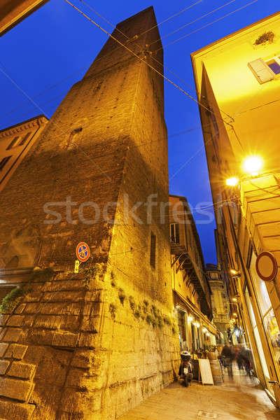 Azzoguidi Tower in Bologna Stock photo © benkrut