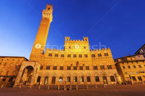 Siena town hall Stock photo © benkrut