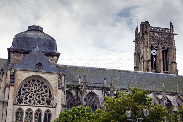 Igreja normandia França céu cidade azul Foto stock © benkrut