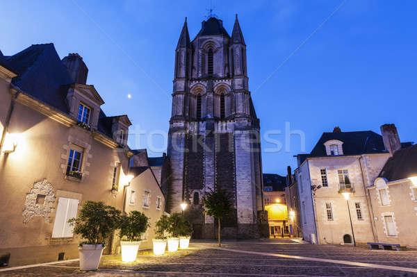 Zdjęcia stock: Opactwo · la · niebo · miasta · kościoła · niebieski