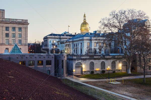 New Jersey gebouw USA reizen stadsgezicht ochtend Stockfoto © benkrut