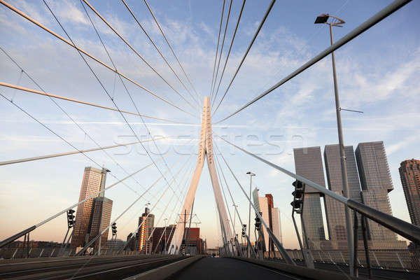 Driving on Erasmus Bridge  Stock photo © benkrut