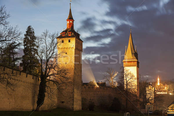 City Wall towers. Lucerne, Switzerland Stock photo © benkrut