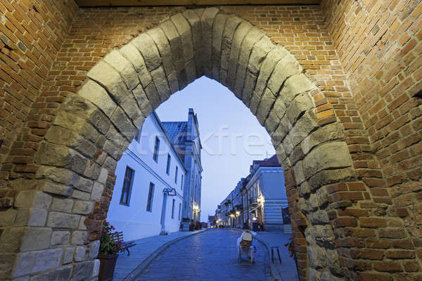 Opatowska Gate and Church of the Holy Spirit - Sandomierz, Swiet Stock photo © benkrut
