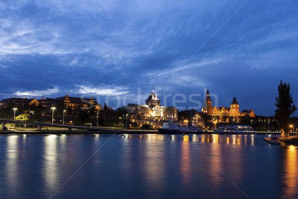 Szczecin panorama across Oder River Stock photo © benkrut
