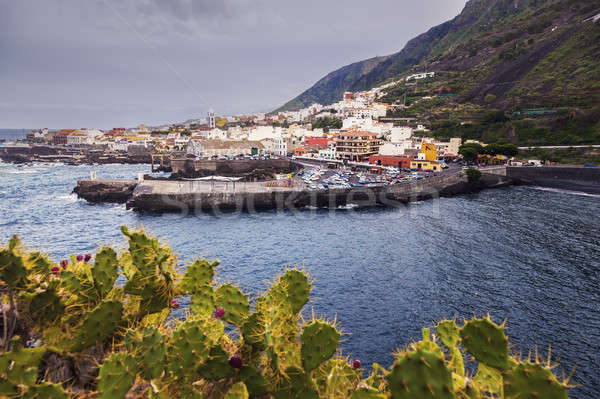 Garachico panorama at sunset. Garachico, Tenerife, Canary Island Stock photo © benkrut