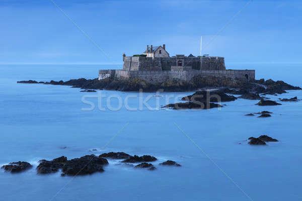 форт острове небе здании синий Skyline Сток-фото © benkrut