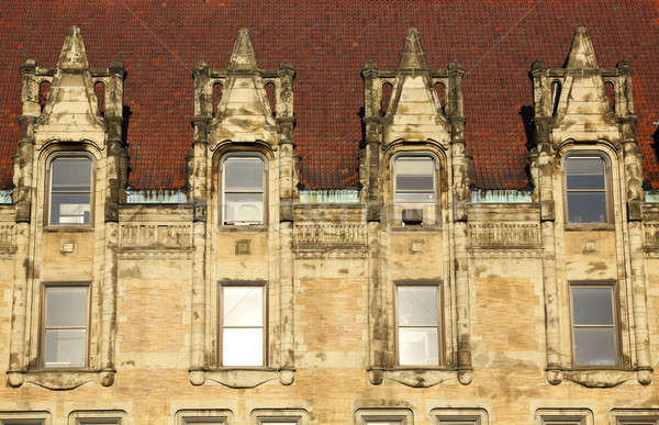 Foto stock: Cidade · ouvir · windows · centro · da · cidade · edifício · viajar