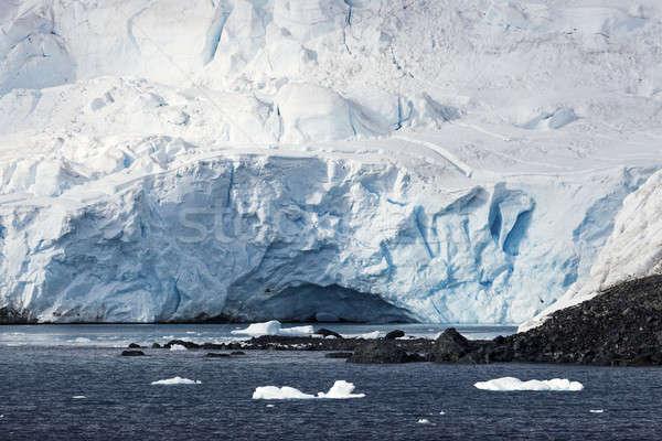 Ice cave - Antarctic Peninsula Stock photo © benkrut