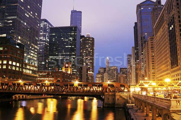 Arquitetura Chicago rio Illinois EUA Foto stock © benkrut