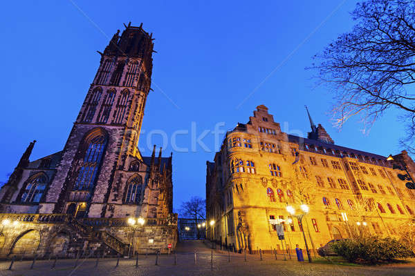 City Hall and St. Salvador Church in Duisburg Stock photo © benkrut