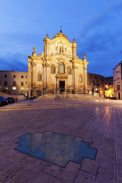 San Francesco d'Assisi Church in Matera Stock photo © benkrut