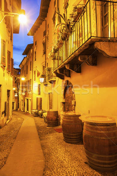 Architecture of Old Town in Desenzano del Garda Stock photo © benkrut