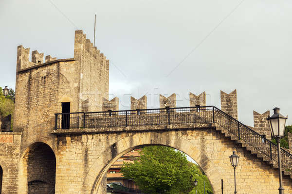 Old architecture of San Marino Stock photo © benkrut