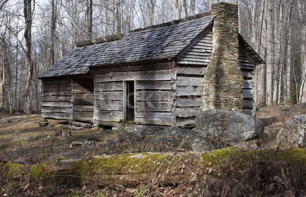 Historic house in Smoky Mountains  Stock photo © benkrut