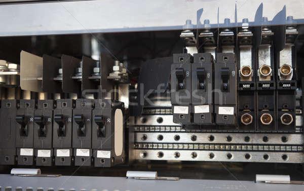 Elektrownia komórek kabel roślin elektrycznej Zdjęcia stock © benkrut