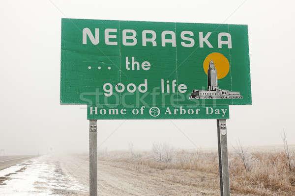 Nebraska Welcome Sign   Stock photo © benkrut
