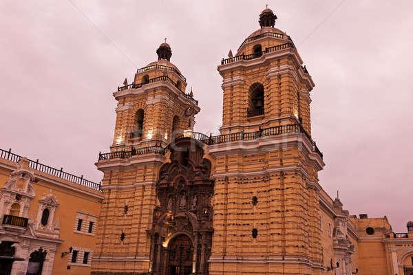 Convento De San Francisco in Lima  Stock photo © benkrut
