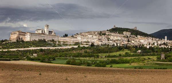 Panorama of Assisi  Stock photo © benkrut