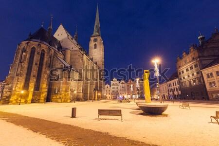 Holy Trinity Church in Torun Stock photo © benkrut