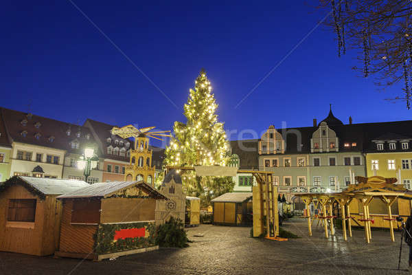 weihnachten markt baum stadt nacht stadtbild. Black Bedroom Furniture Sets. Home Design Ideas