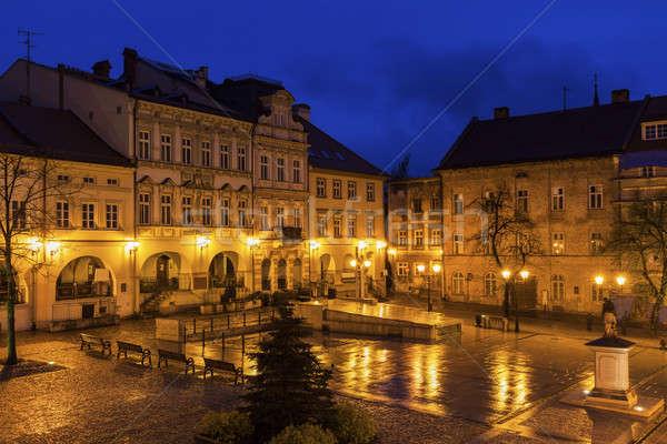 Main Square in Bielsko-Biala Stock photo © benkrut