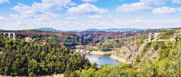 Garabit viaduct over River Truyere Stock photo © benkrut