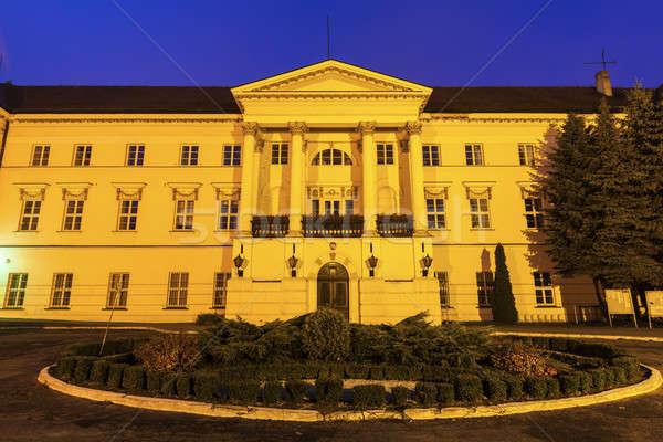 Immeuble de bureaux Pologne ville Voyage Skyline architecture Photo stock © benkrut