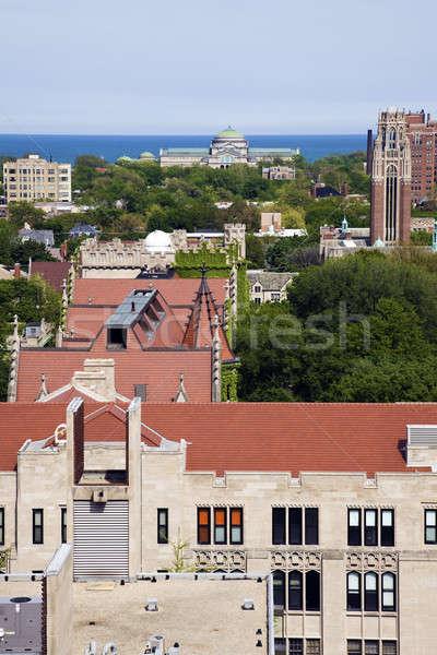 University of Chicago campus aerial photo Stock photo © benkrut