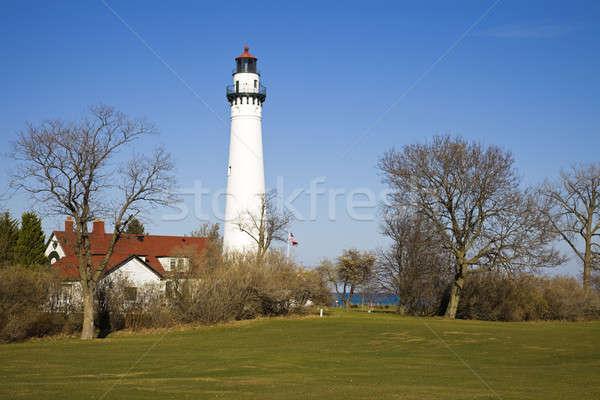 Rüzgâr nokta deniz feneri Wisconsin ABD Stok fotoğraf © benkrut