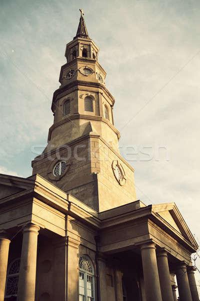 église architecture histoire tour USA centre-ville Photo stock © benkrut