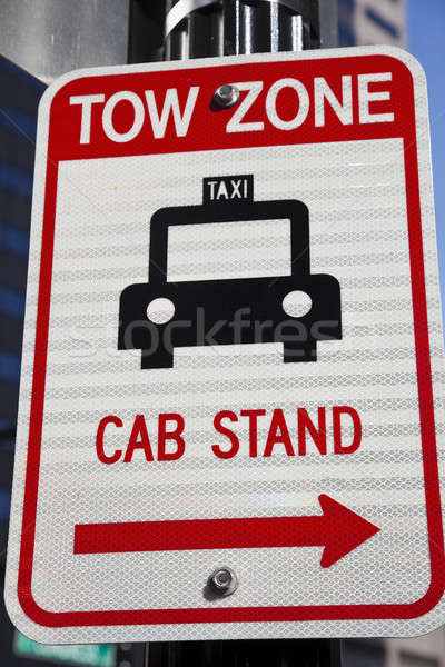Tow Zone - Cab Stand Stock photo © benkrut