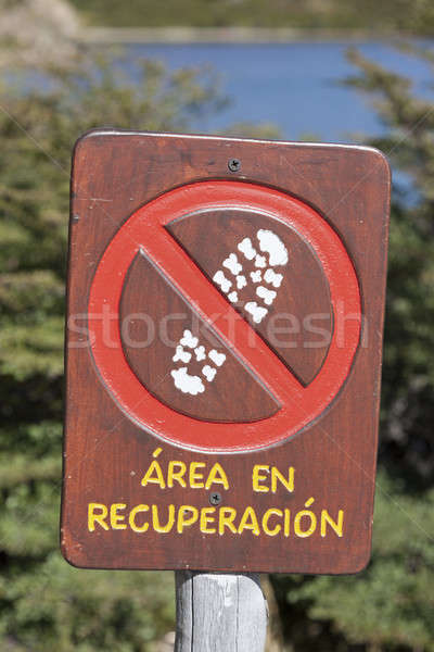 Protected area sign   Stock photo © benkrut