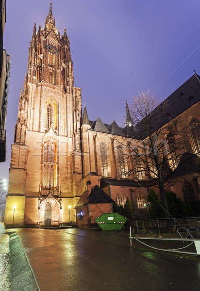 Rainy evening by Frankfurt Cathedral Stock photo © benkrut