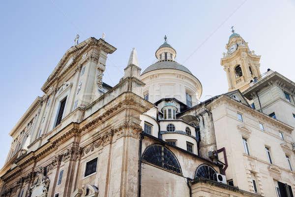 Kerk jesus Blauw skyline Europa Stockfoto © benkrut