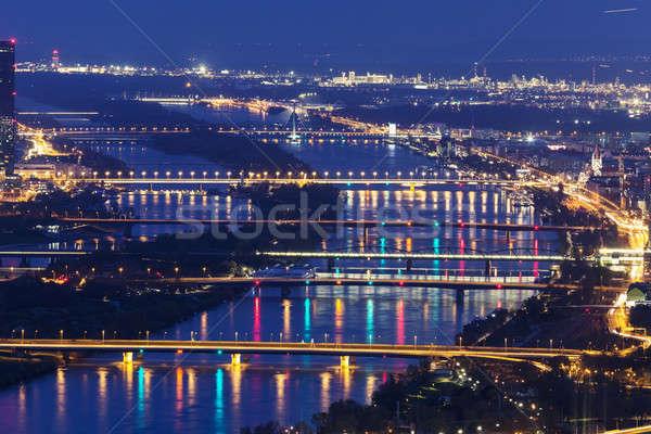 Köprüler tuna nehir Viyana Avusturya köprü Stok fotoğraf © benkrut