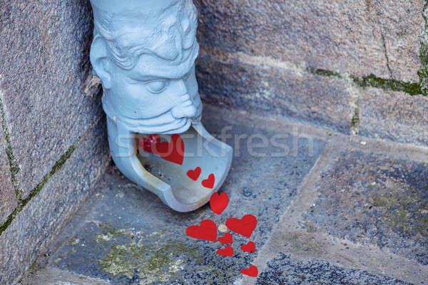Goot la gezicht stad hart Blauw Stockfoto © benkrut