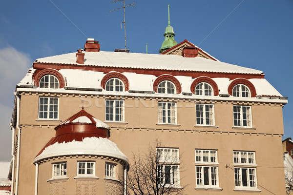 Architecture Helsinki coloré bâtiment Photo stock © benkrut