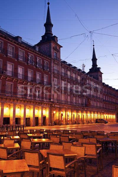 Restaurant on Plaza Mayor Stock photo © benkrut