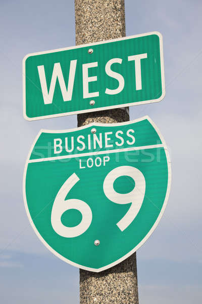 шоссе знак бизнеса дороги зеленый шоссе дорожный знак Сток-фото © benkrut
