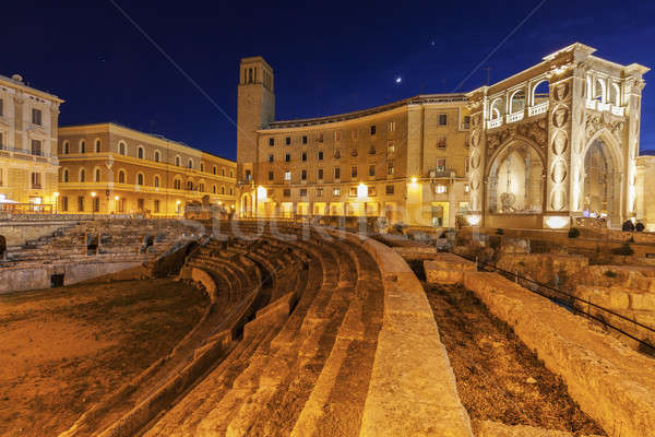 Piazza Santo Oronzo and Anfiteatro Romano in Lecce Stock photo © benkrut