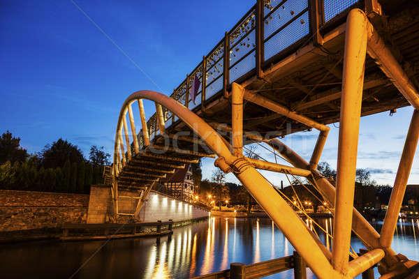Small bridge on Brda River in Bydgoszcz Stock photo © benkrut