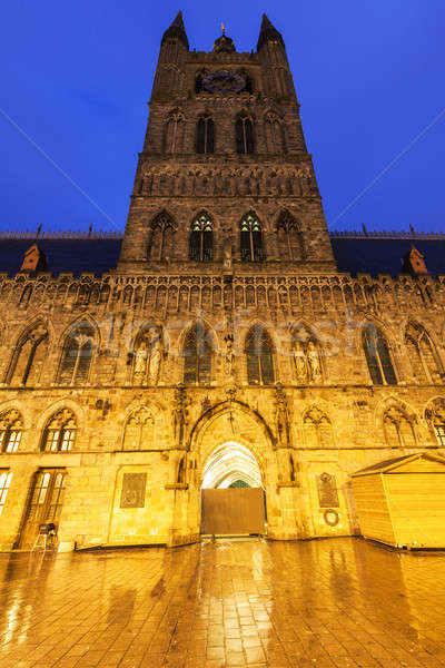 Cloth Hall and Belfry in Ypres Stock photo © benkrut