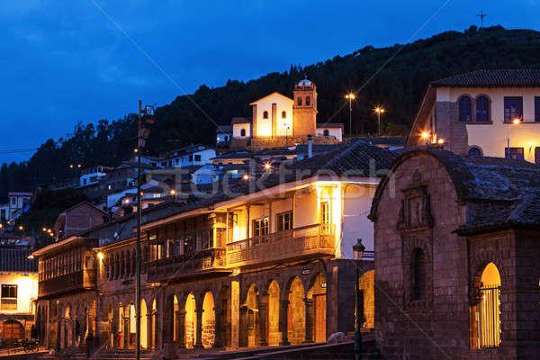 View from Plaza de Armas in Cuzco  Stock photo © benkrut