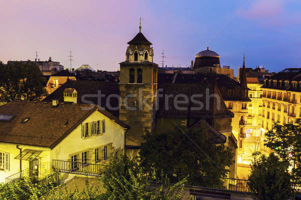 świątyni la Szwajcaria niebo kościoła Zdjęcia stock © benkrut