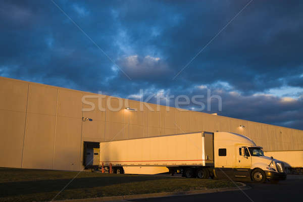 Semi Truck in the loading zone Stock photo © benkrut