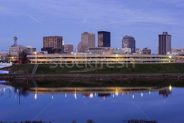 Akşam Ohio muhteşem Miami nehir ABD Stok fotoğraf © benkrut